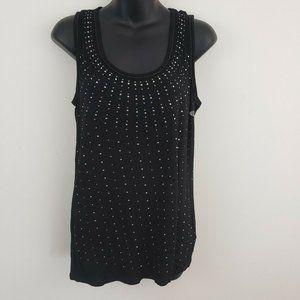 Studio Y Women's Sleeveless Top Tank Shirt Black